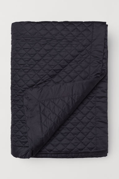 Quilted bedspread - Black - Home All | H&M GB