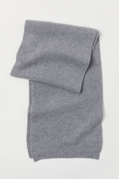 Cashmere scarf - Light grey marl - Men | H&M
