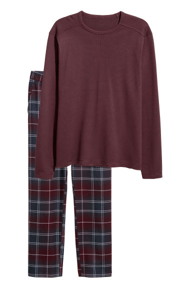 Pyjamas - Burgundy - Men | H&M