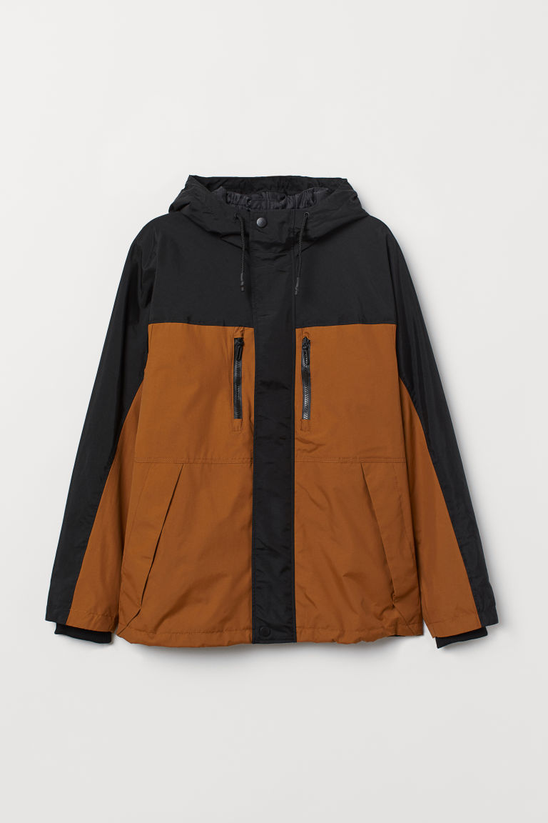 Padded nylon jacket - Ochre/Black - Men | H&M