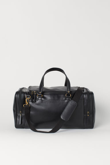 Imitation leather sports bag - Black - Men | H&M CN