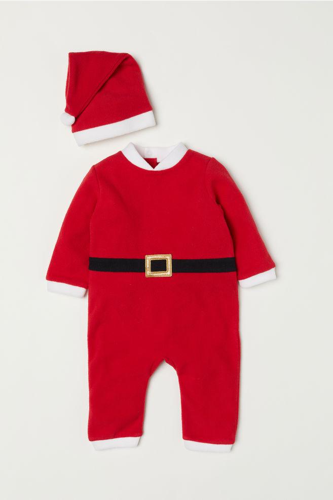 Costume Babbo Natale.Costume Babbo Natale In Pile Rosso Bambino H M It