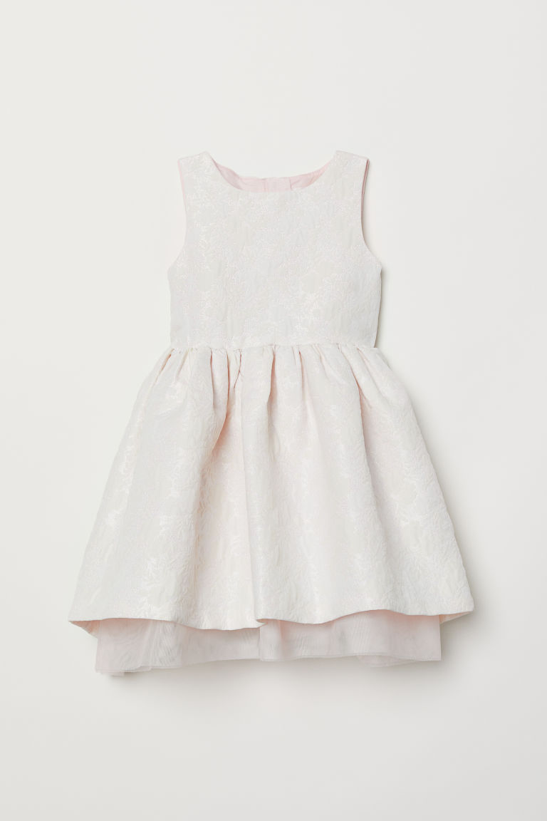 Jacquard-weave dress - Pink - Kids | H&M CN