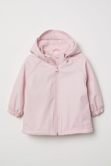 Fleece-lined rain jacket - Light pink - Kids | H&M