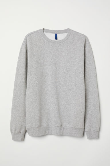 Sweat oversize - Gris chiné -  | H&M FR