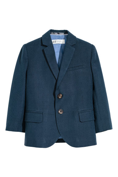 Cotton jacket - Dark blue/Spotted -  | H&M CN