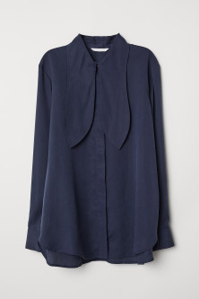 Lyocell tie-front blouse