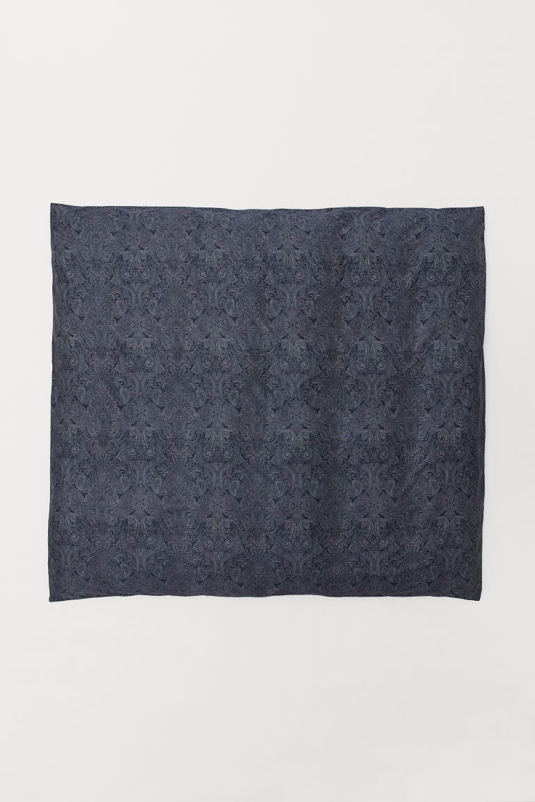 Patterned duvet cover - Blu scuro/motivi cashmere - HOME | H&M IT