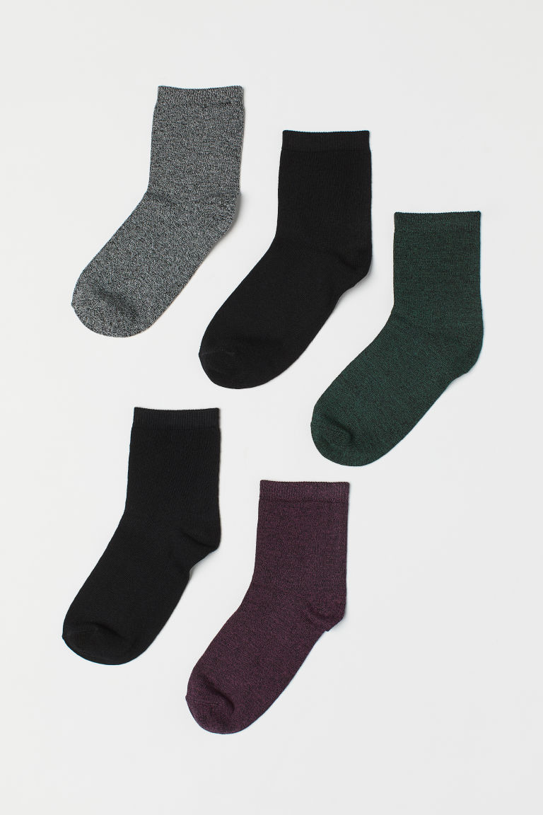 5-pack socks - Purple marl - Ladies | H&M
