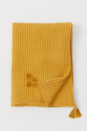 Waffled Cotton Throw