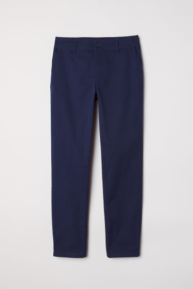 Cotton chinos - Dark blue - Ladies | H&M