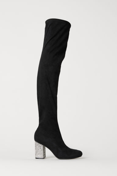 Thigh boots - Black -  | H&M CN