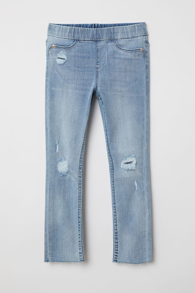 Superstretch denim leggings - Denim blue - Kids | H&M
