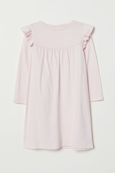 Nightdress with a frill - Light pink/Spotted - Kids | H&M CN