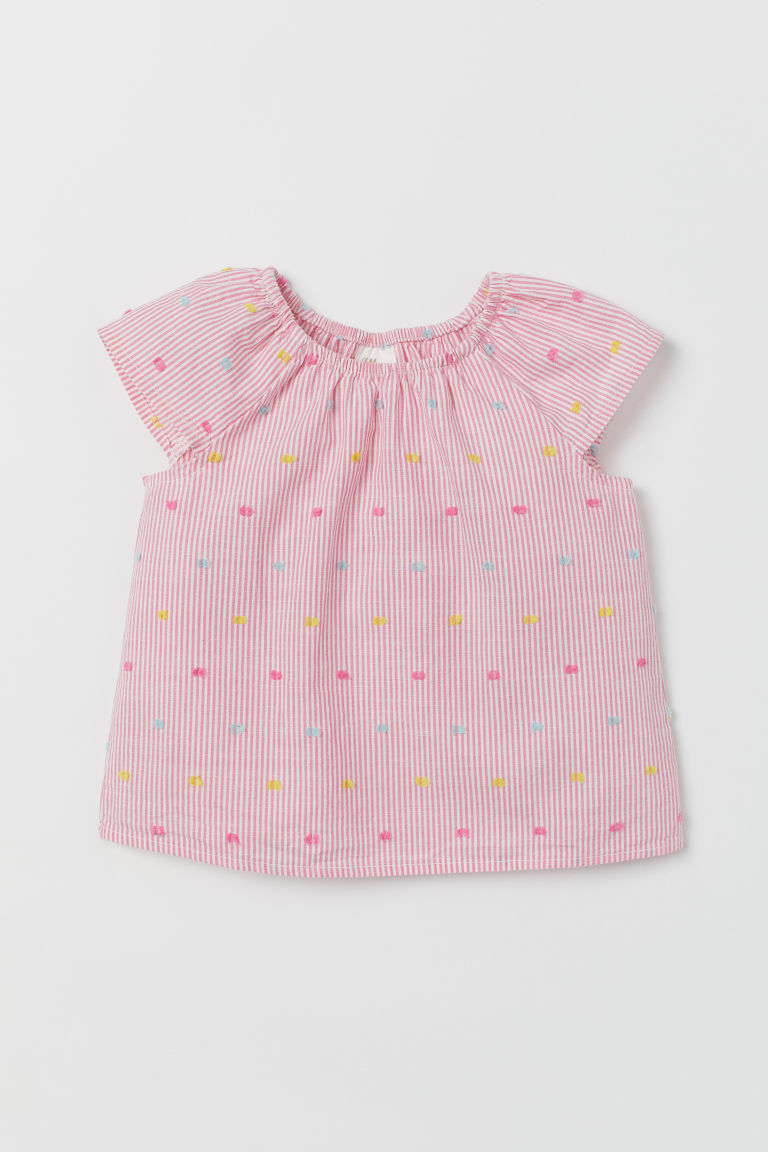 Top en coton - Rose/blanc - ENFANT | H&M BE