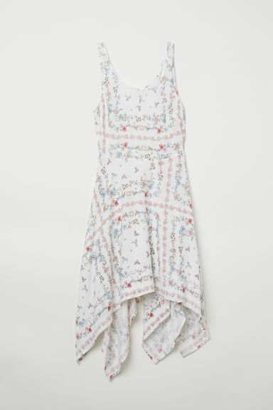 Patterned dress - White/Floral -  | H&M