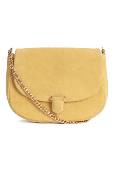 Suede Shoulder Bag - Yellow -  | H&M US