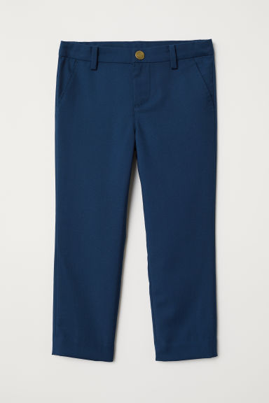 Twill trousers - Dark blue - Kids | H&M CN