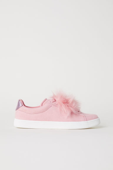 Trainers with faux fur - Old rose - Ladies | H&M GB