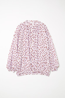 Patterned lyocell blouse