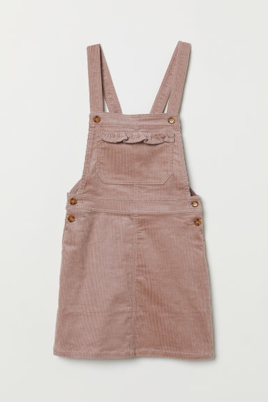 Corduroy dungaree dress - Heather -  | H&M CN
