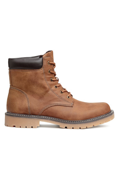 Boots met robuuste zool - Cognac brown -  | H&M BE