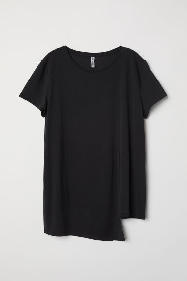 Asymmetric top - Black -  | H&M