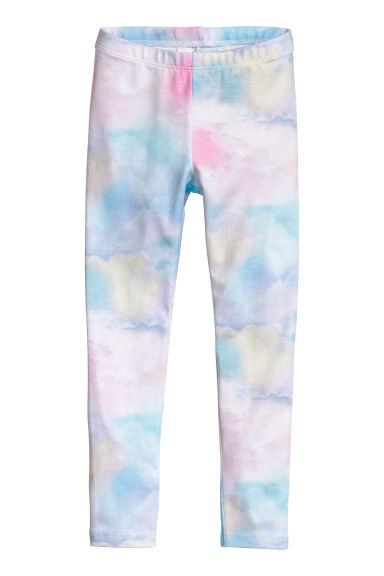 Jersey leggings - Pink/Clouds -  | H&M