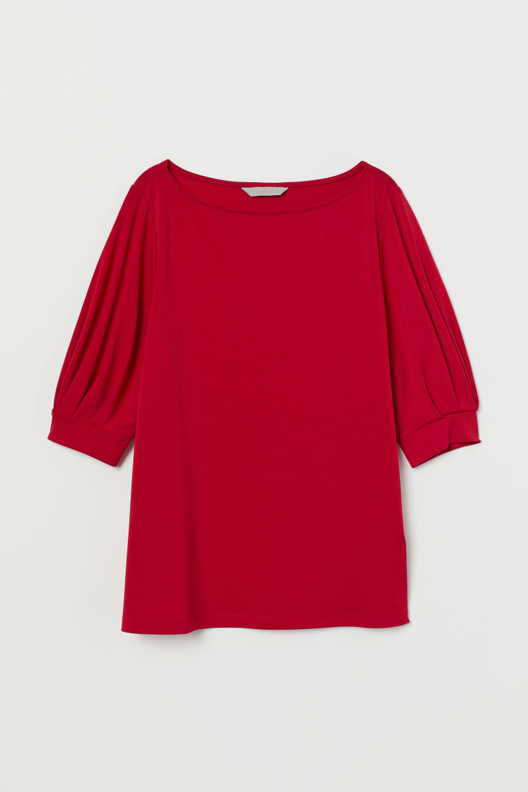 Jersey crêpe top - Dark red - Ladies | H&M IE