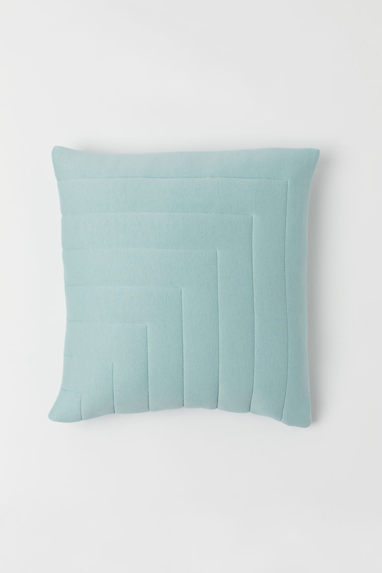 Quilted cushion cover - Light turquoise - Home All | H&M CN