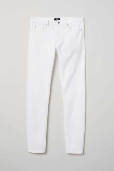 Skinny Jeans - Wit - HEREN | H&M NL