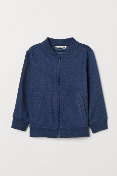 Sweatshirt Cardigan - Blue melange - Kids | H&M US