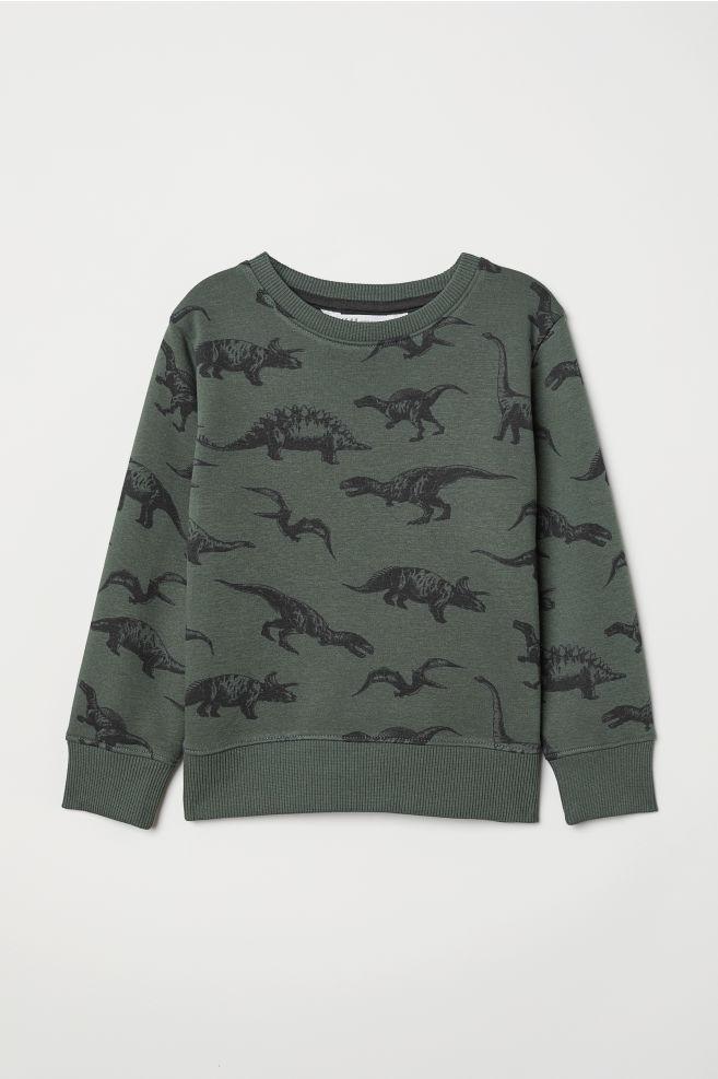 f7e51a48f Sweatshirt - Dark green dinosaurs - Kids