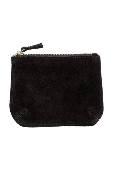 Small suede pouch - Black -  | H&M