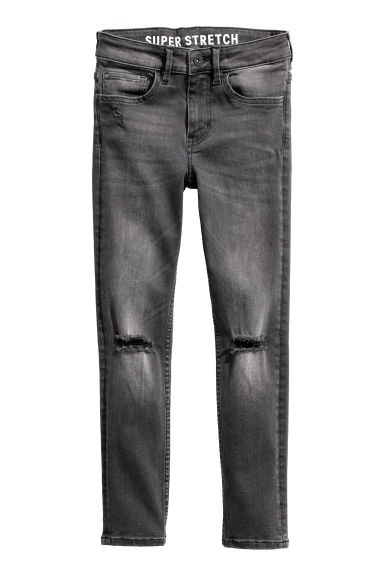 Superstretch Skinny Fit Jeans - Black washed out - Kids | H&M CN