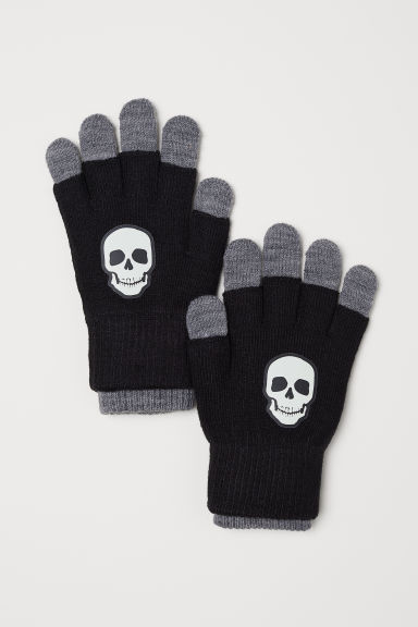 Gloves/fingerless gloves - Black/Skull - Kids | H&M