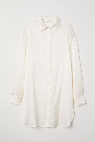 Silk shirt - Cream - Ladies | H&M