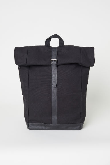 Canvas backpack - Black - Men | H&M