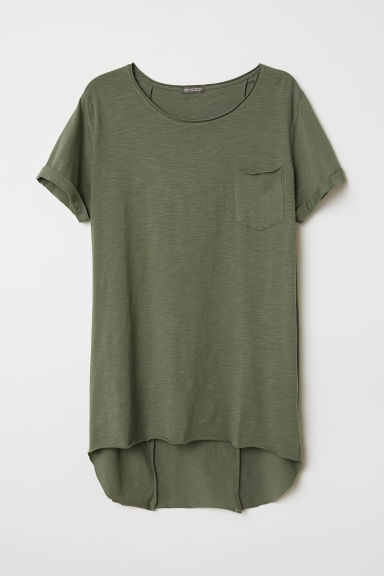 T-shirt lunga - Verde kaki - UOMO | H&M IT