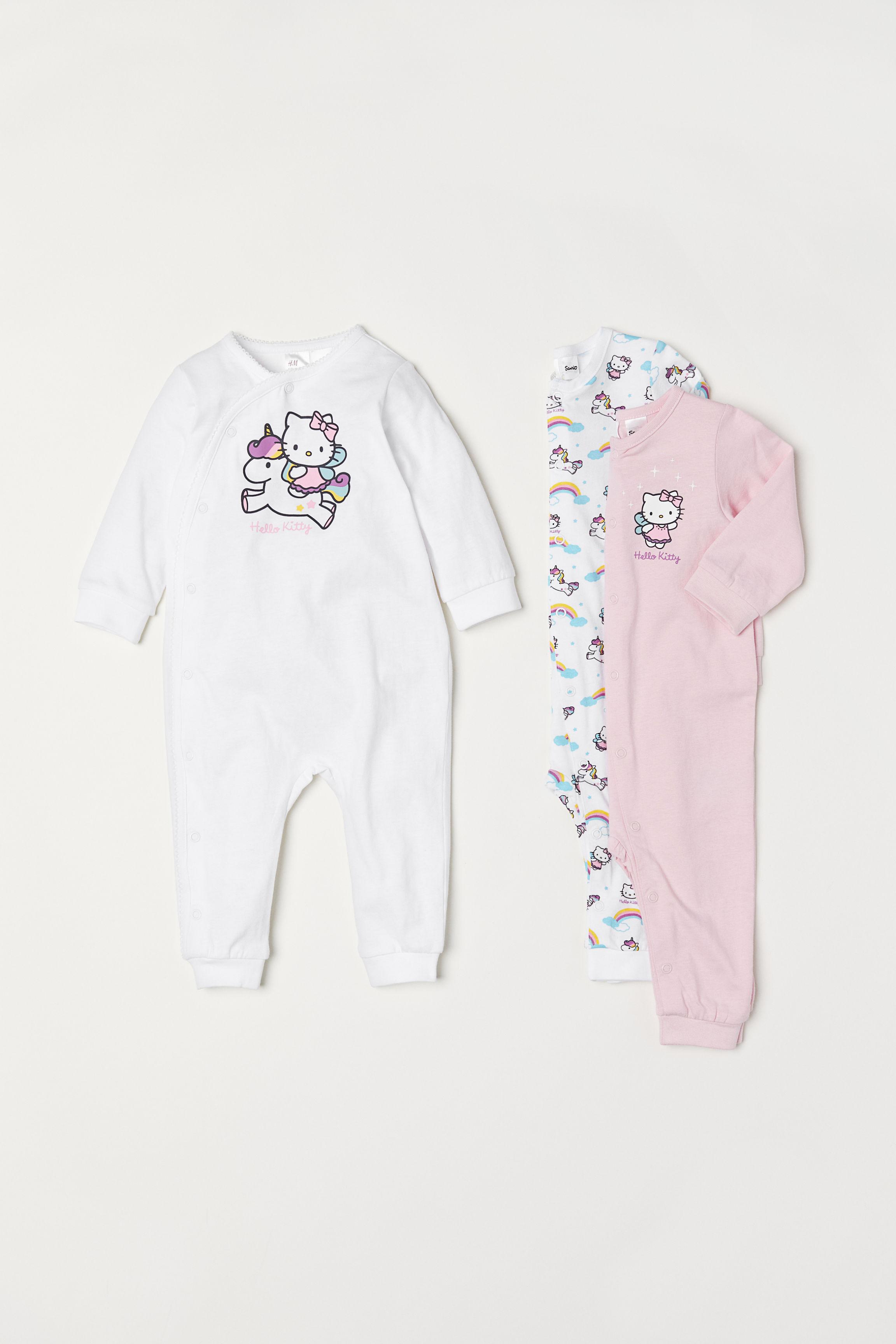 eca04b47e 3-pack Jumpsuits - Pink/Hello Kitty - Kids   H&M US