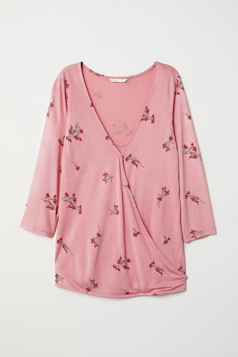 MAMA Nursing top - Pink/Floral - Ladies | H&M
