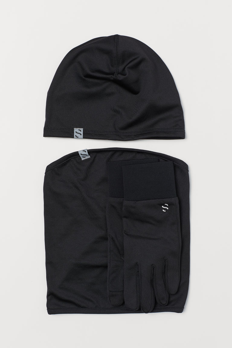 3-piece running set - Black - Men | H&M