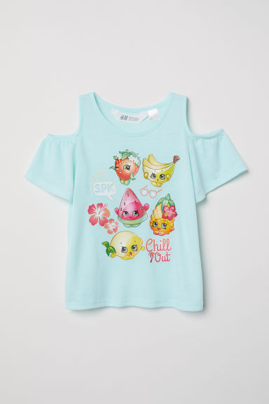 Top hombros cut-out - Turquesa claro/Shopkins -  | H&M ES