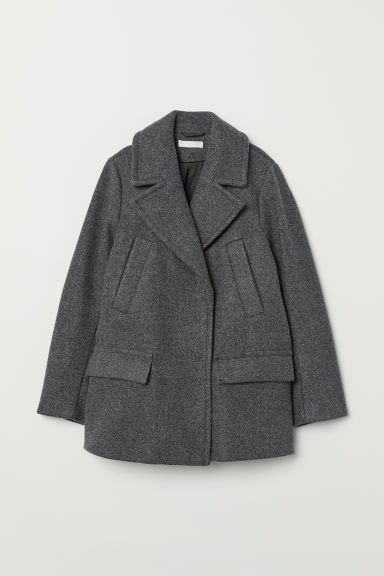 Double-breasted Jacket - Dark gray melange - Ladies | H&M US