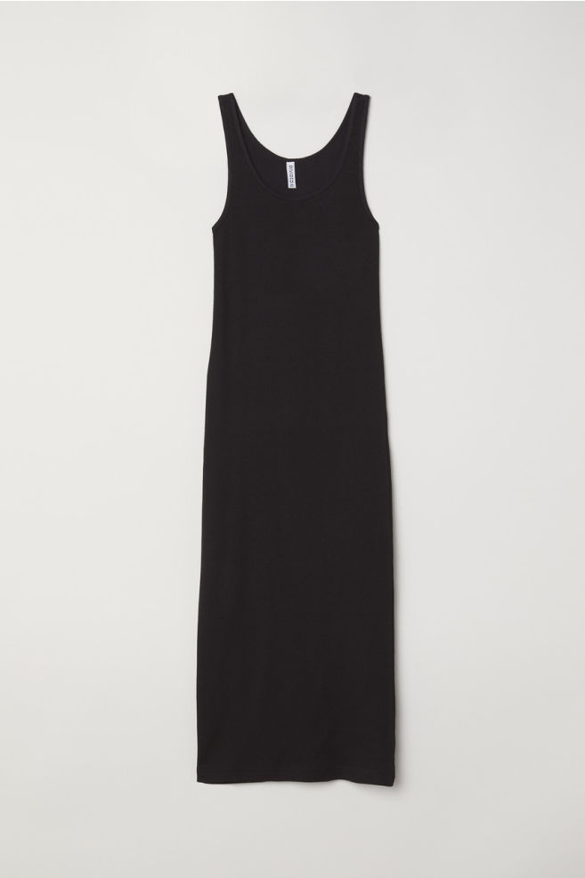 dd54a025f2e Ribbed Dress - Black -