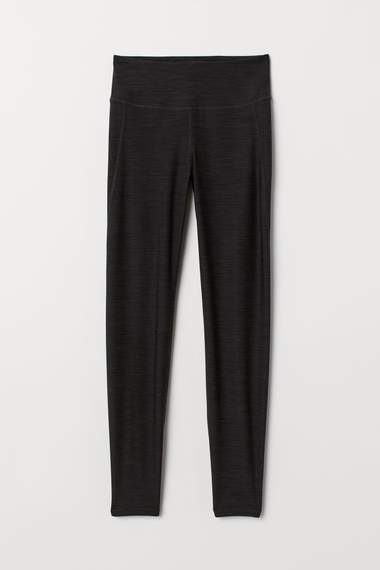Sports tights - Dark grey marl - Ladies | H&M