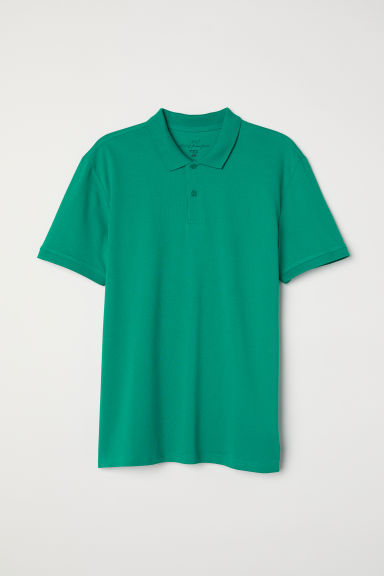 Polo shirt - Emerald green - Men | H&M