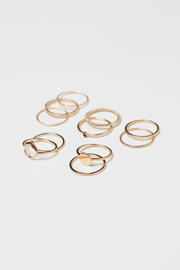 11-pack Rings - Gold-colored - Ladies | H&M US