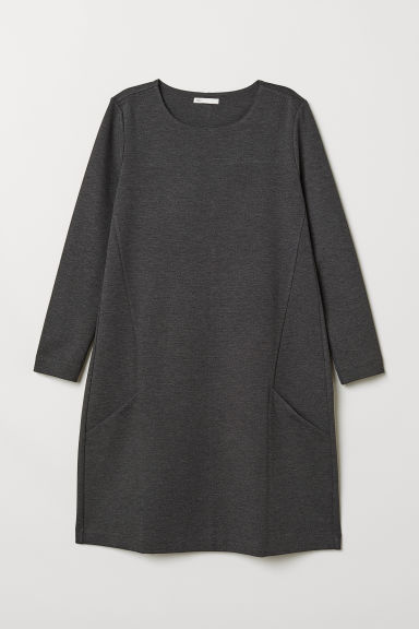 Jersey Dress - Dark gray melange - Ladies | H&M US