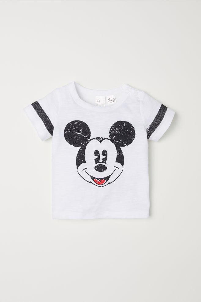 09727feb13c09 T-shirt avec impression - Blanc Mickey - ENFANT